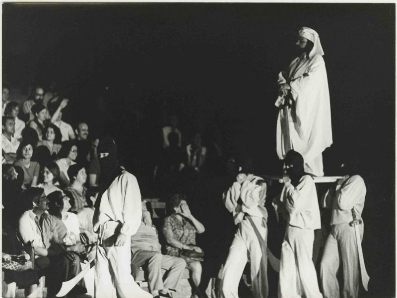 Una imatge de 'Tirant lo blanc' , adaptada per Maria Aurèlia Capmany en la posada en escena del 1976, dirigida per Josep Anton Codina. Foto:PAU BARCELÓ