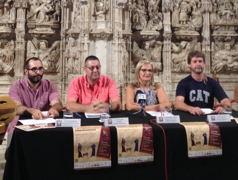 La presentació del festival Terra de Trobadors va tenir lloc a la basílica de Santa Maria Foto:EPA
