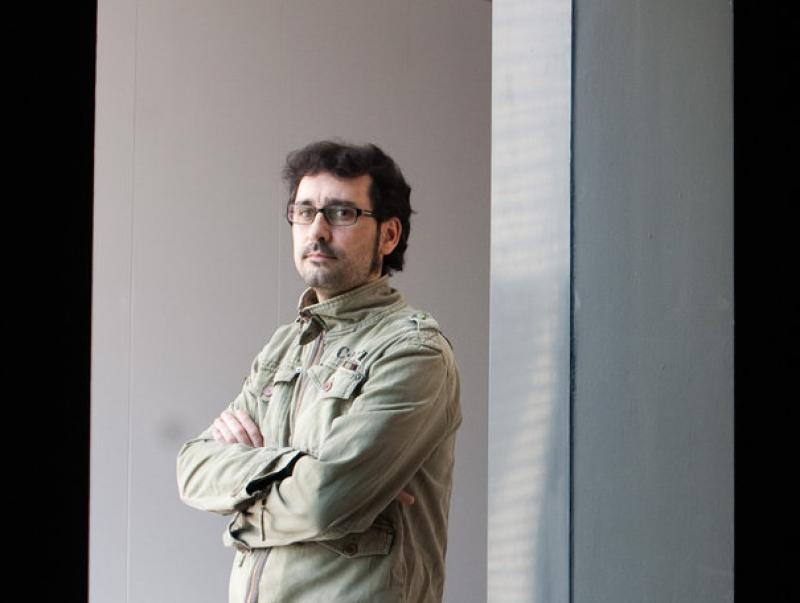Aberto Velasco és expert en art medieval i treballa al Museu de Lleida Foto:MIKEL ARISTEGI