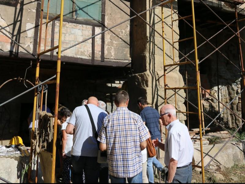 La visita a l'antiga fonda Sant Antoni és la que va atraure més públic Foto:N.B